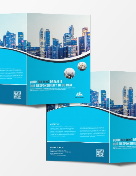construction company brochure sample