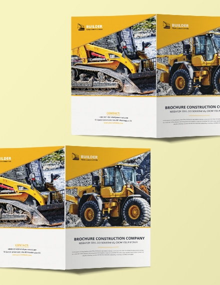 construction equipment brochure template example