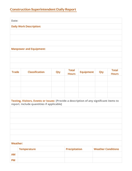 Daily Report Template | 14 Daily Report Examples Templates In Word Pages Examples