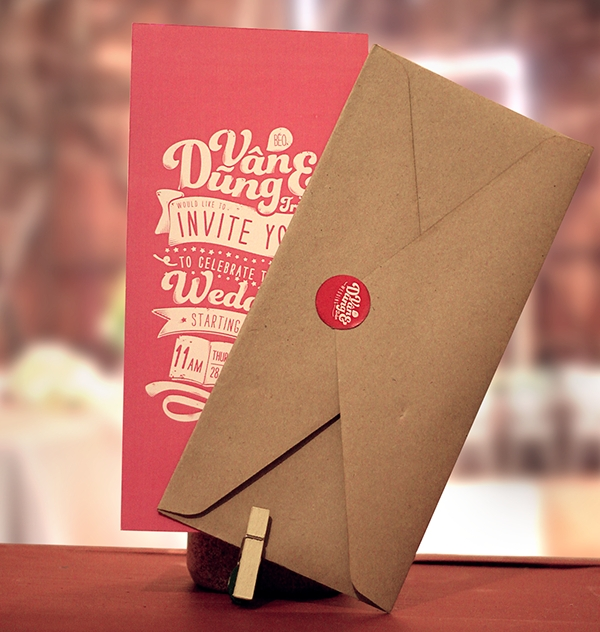 cool wedding invitation