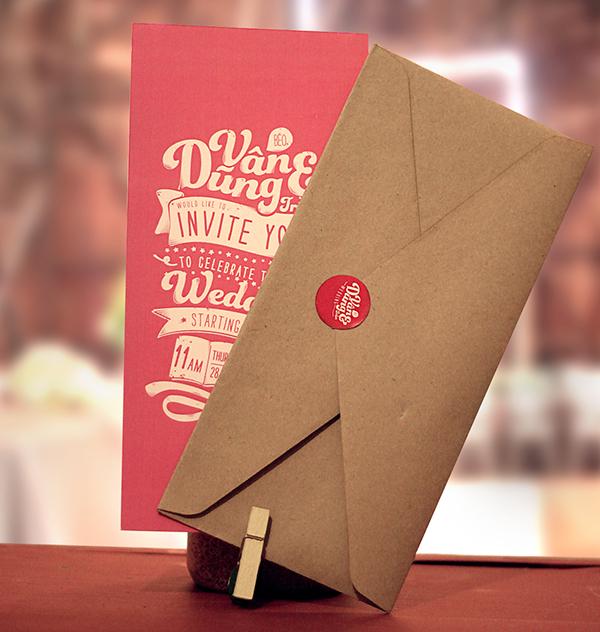 cool wedding invitation