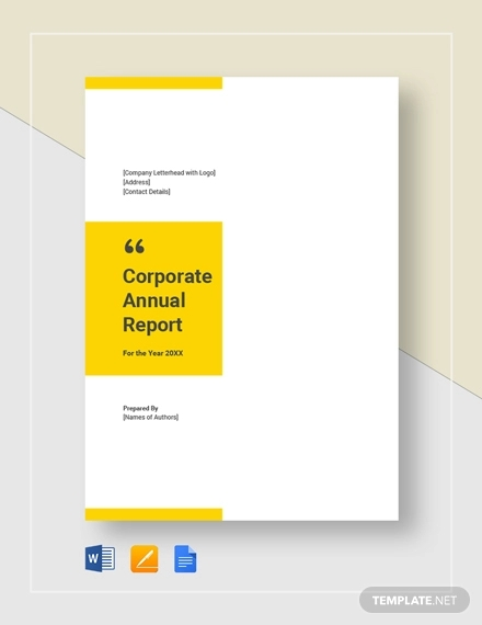 corporate annual report template