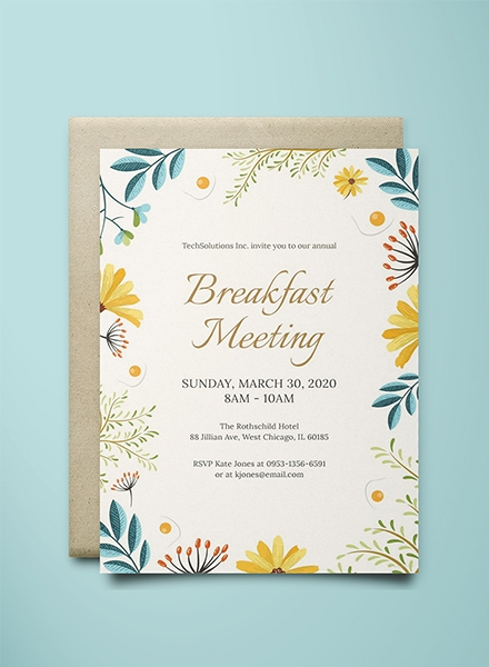 12 business invitation examples templates design ideas corporate breakfast invitation template wajeb Gallery