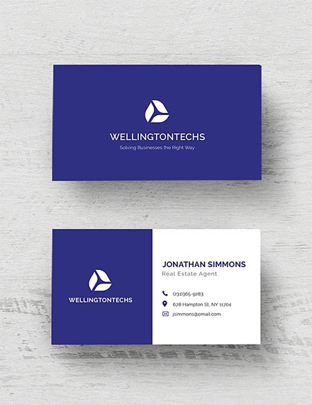 corporate business card example