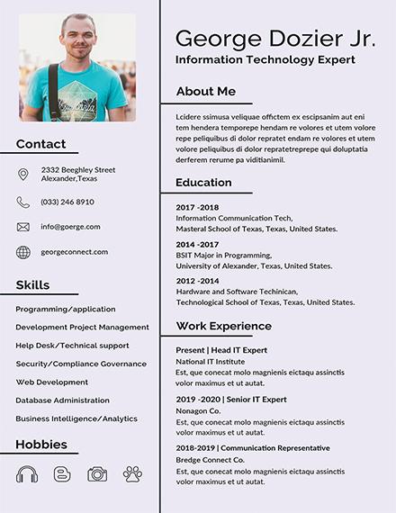 corporate fresher resume sample