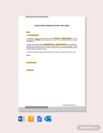 cover letter for part time work1