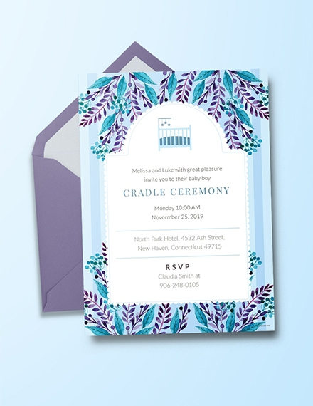 cradle ceremony invitation