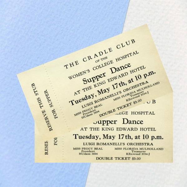 cradle club's supper dance event ticket