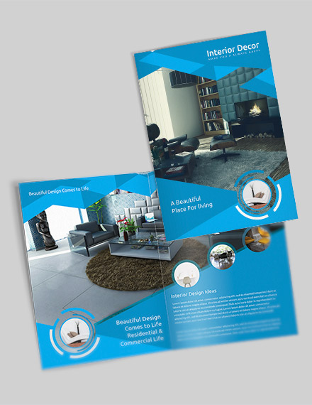 creative interior decor bi fold brochure sample