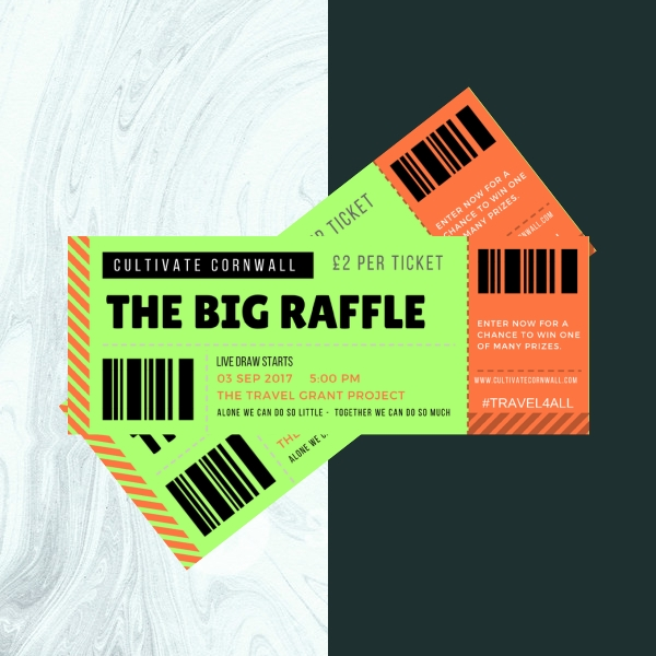 cultivate cornwall raffle ticket design