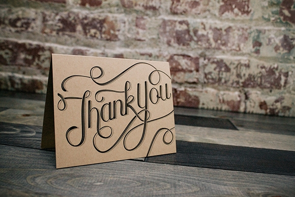 custom thank you card example