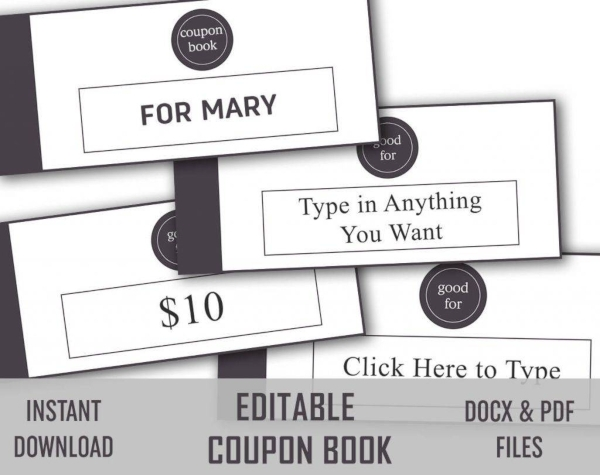 diy and editable love coupon example