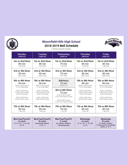 Daily Bell Schedule Rotation