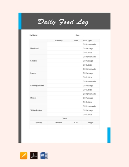 daily food log