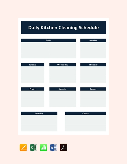 Daily Kitchen Cleaning Schedule