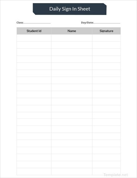 daily sign in sheet template1
