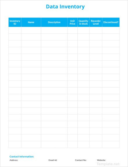 data inventory template1