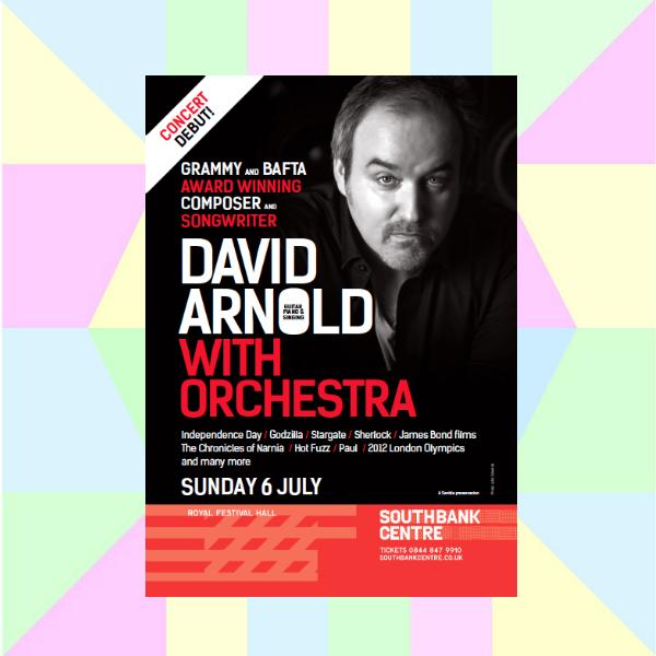 david arnold live concert flyer
