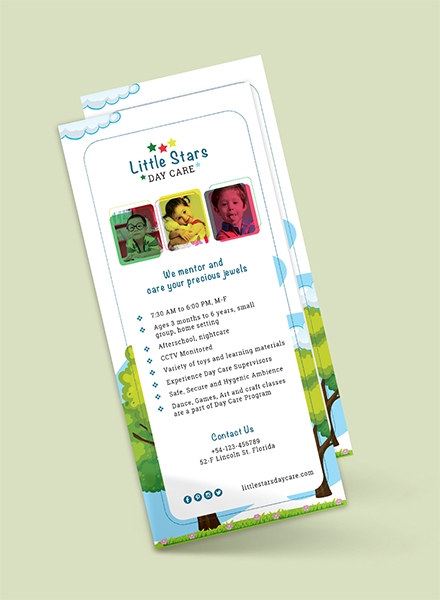 Daycare Rack Card Template