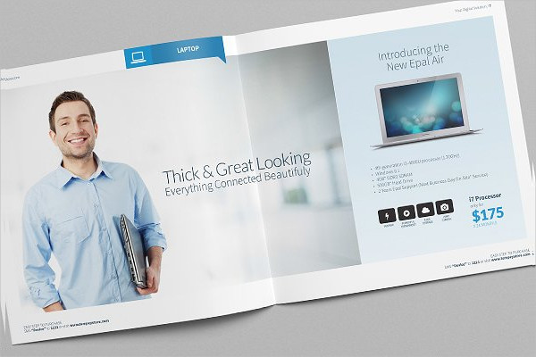 digital product pro business catalog example