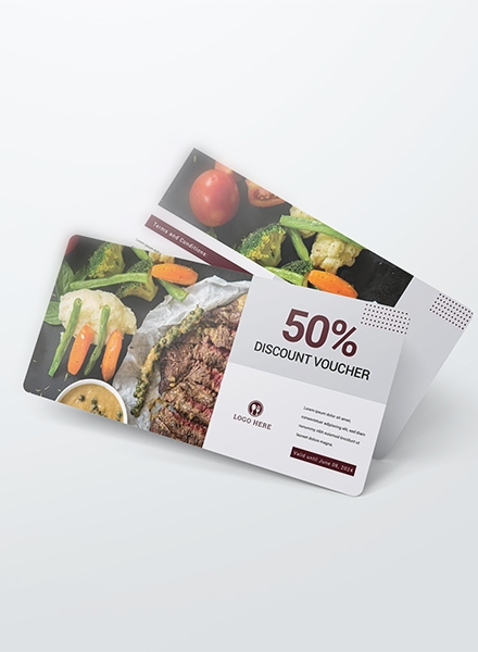 Dinner Discount Voucher Example