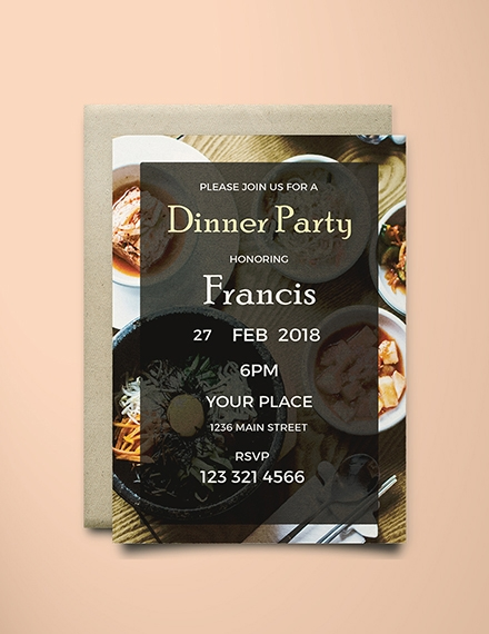 Dinner Farewell Party Invitation