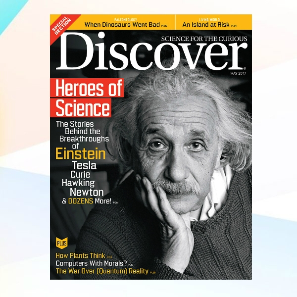 discover magazine cover example