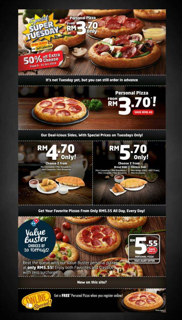 dominos online promotional flyer 582x1024