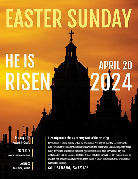 easter church flyer template