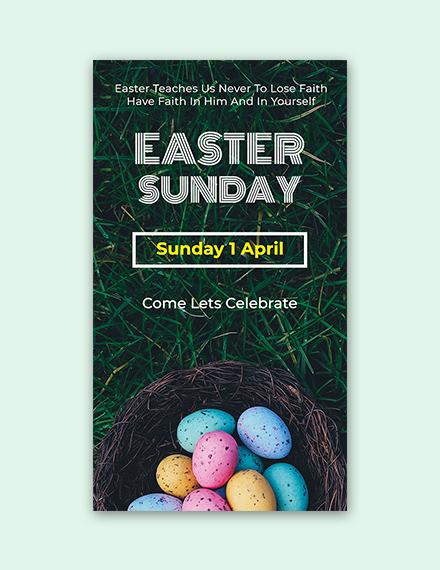 Easter Sunday Snapchat Geofilter Sample