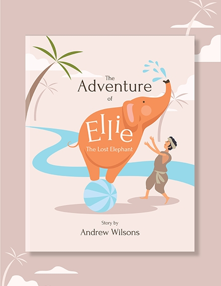editable kids book cover template