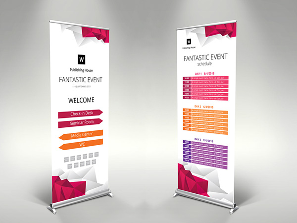 editable roll up banner example