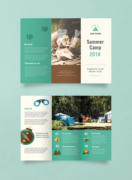 Educational Summer Camp Brochure Example