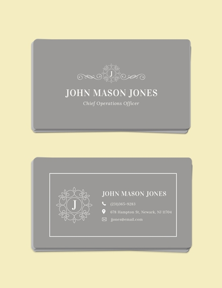 elegant business card example
