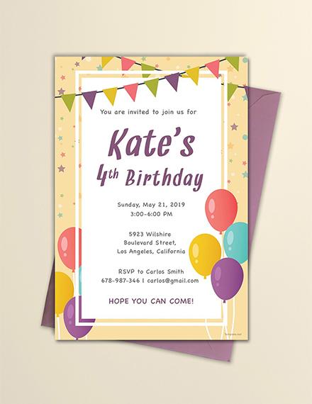 email birthday invitation sample