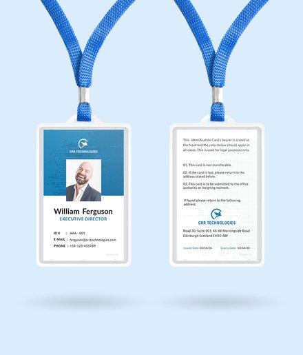 employee id card template mockup