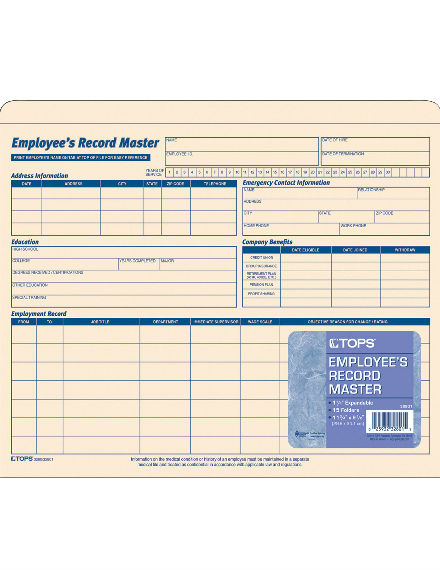 employee record master sheet