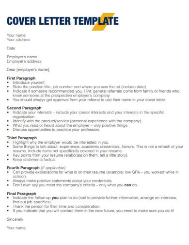 employer carrier cover letter