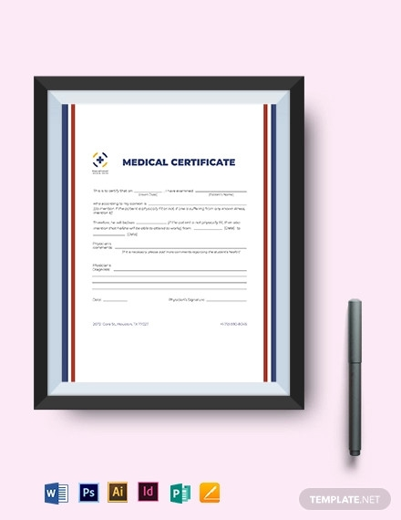 european medical certificate template