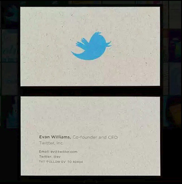 evan williams' business card