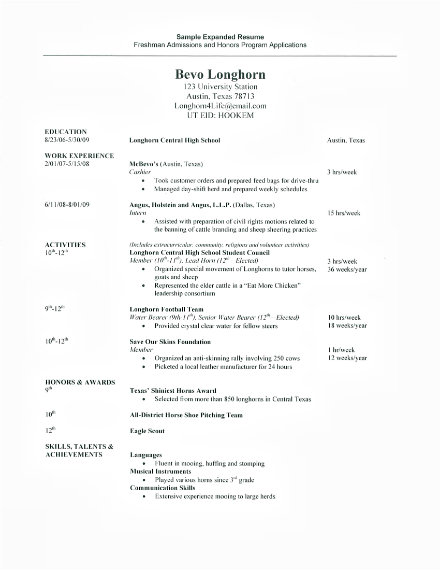 expanded resume