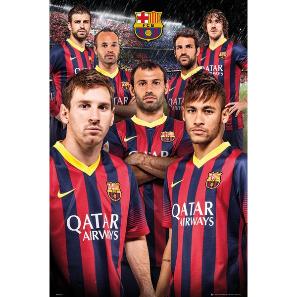 fc barcelona sports poster
