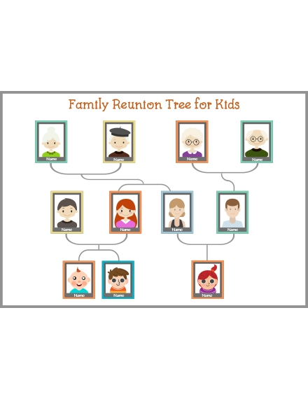 Family Reunion Tree Template for Kids