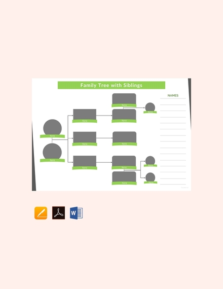 Family Tree Template with Siblings1