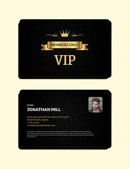 Fan Club Membership Card Template