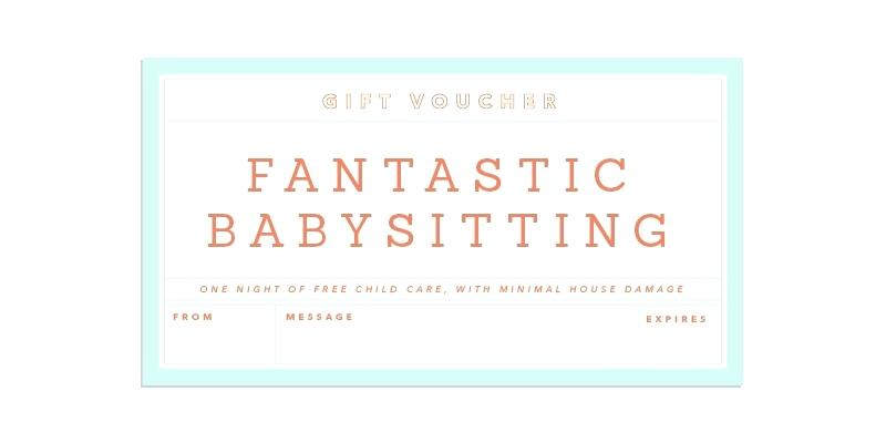 fantastic babysitting coupon template example