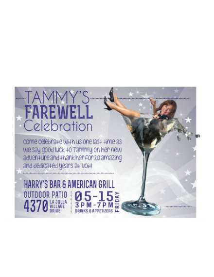 Farewell Celebration Invitation Example