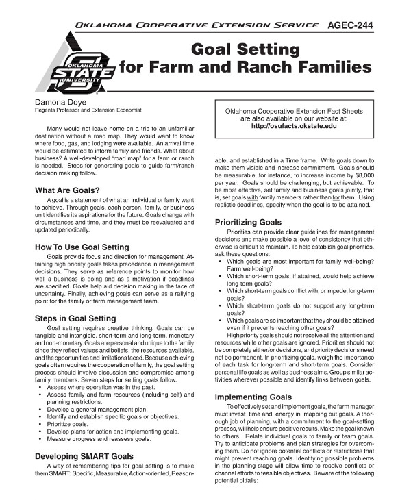farm and ranch business goal setting example1