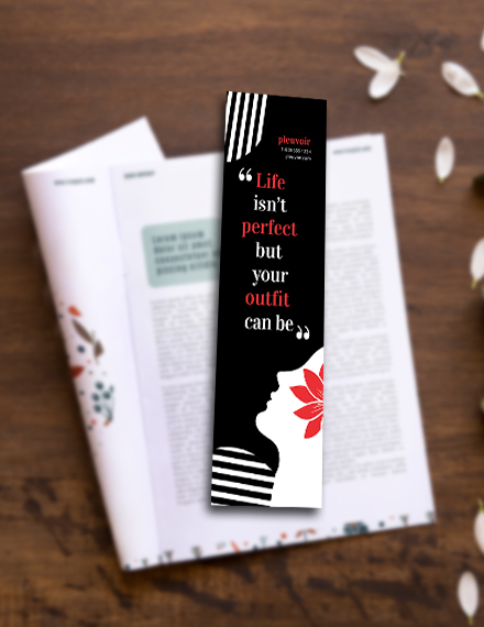 fashion bookmark template