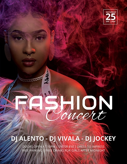 fashion concert flyer